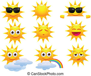Sun cartoon character - Vector illustration of Sun cartoon...