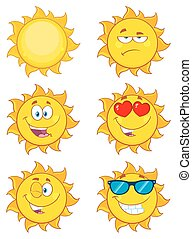Sun Cartoon Characters Collection