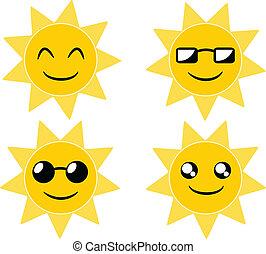 Sun cartoon illustration