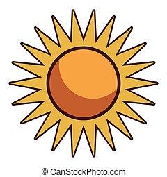 Sun cartoon isolated
