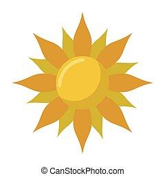 Sun cartoon symbol