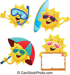 Sun Characters - Collection of funny sun characters