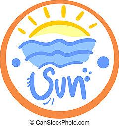 Sun circle icon