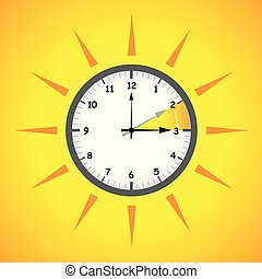 sun clock summer time daylight saving time