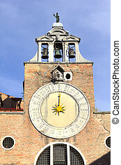 Sun Clock Tower in Venice, Italy