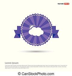 Sun Cloud Icon - Purple Ribbon banner