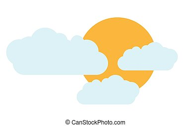 sun cloud sky design
