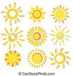 sun collection of symbols
