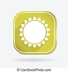 sun. Color square icon