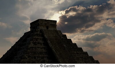 Sun Comes Out Above Aztec Ruins - Sun appears from behind...
