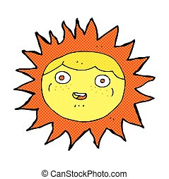 sun comic cartoon character