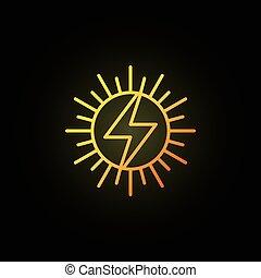Sun concept colorful icon