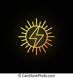 Sun concept colorful icon