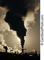 Shot of the gaseous air pollution