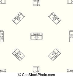 Sun cream pattern seamless vector repeat geometric for any...