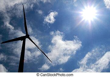 Sun-energy versus wind-energy