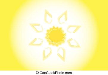sun., estrela, com, seu, próprio, luz, ao redor, que, terra, rotates.