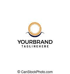 Sun eye Vector Logo Design Template