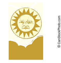 Sun face #3
