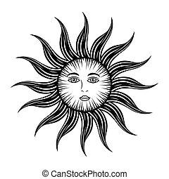 sun face astrology
