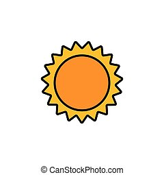 Sun. Filled color icon. Weather vector illustration - Sun. ...