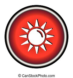 Sun flat icon on white background