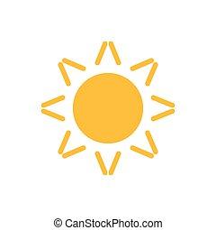 Sun flat icon vector. Summer pictogram. Sunlight symbol. for website design, web button, mobile app illustration