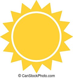Sun flat icon vector. Summer pictogram. Sunlight symbol. for website design, web button, mobile app illustration