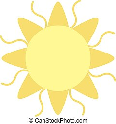 Sun flat illustration on white