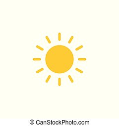 sun flat vector icon isolated on white background. eps 10