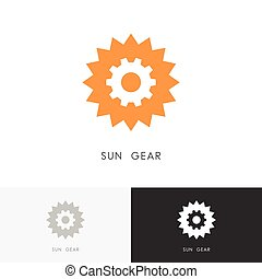 Sun gear wheel logo