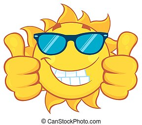 Sun Giving A Double Thumbs Up