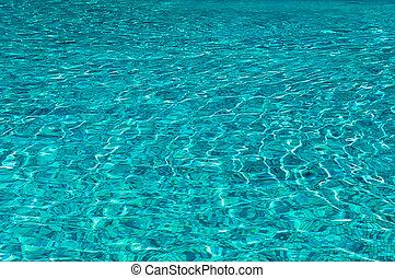sun glare in the clear water