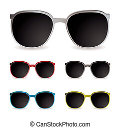 Sun glasses - Collection of sun glasses with different ...