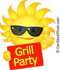 Sun glasses grill party