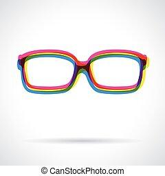 Sun glasses icon.