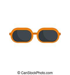 Sun glasses icon, flat style