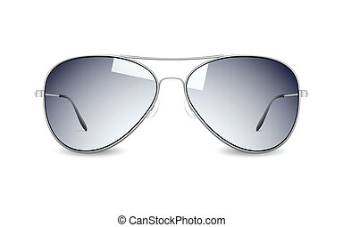 Sun Glasses - illustration of sun glasses on white...