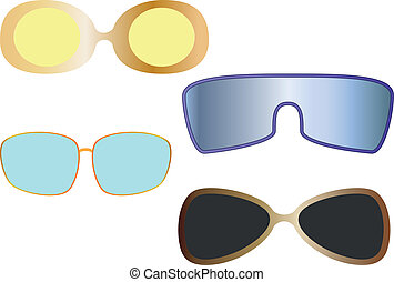 The vector set of sun eye glasses