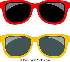Sun glasses vector icon