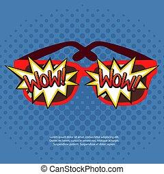 Sun Glasses With Comic Bubbles