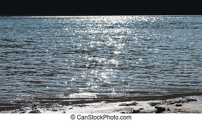 Sun Glimpses in Water Lake - Sun rays are reflecting lakes...