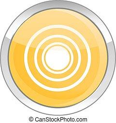 sun glossy icon button