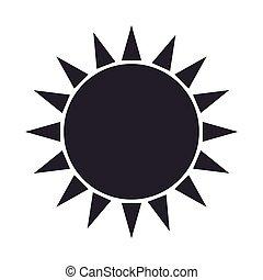 sun glow symbol icon vector illustration - sun glow symbol...