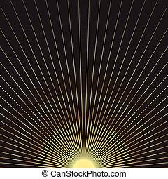 Sun gold rays starburst festive background - Sun gold rays...
