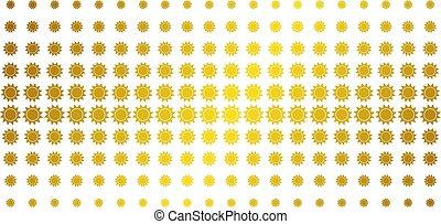 Sun Golden Halftone Matrix