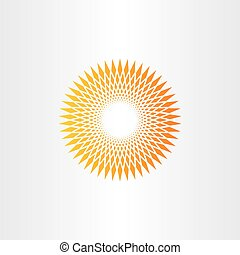 sun halftone vector background design