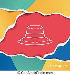 sun hat line icon