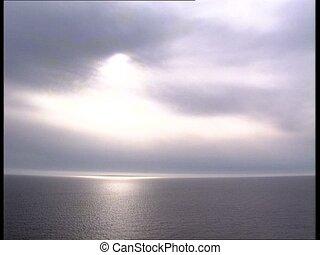 SUN hazy clouds over the sea - Sun over the sea in a hazy...