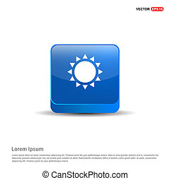 Sun Icon - 3d Blue Button